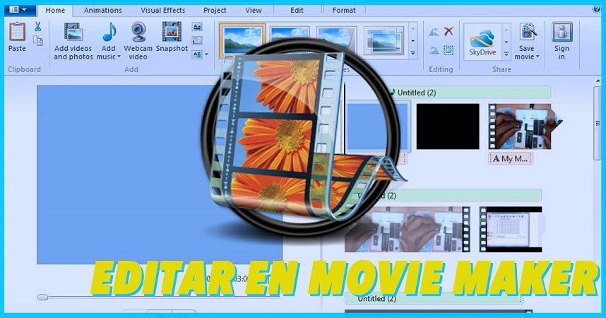 como editar un video en movie maker