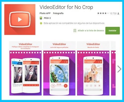 apps para videos de instagram