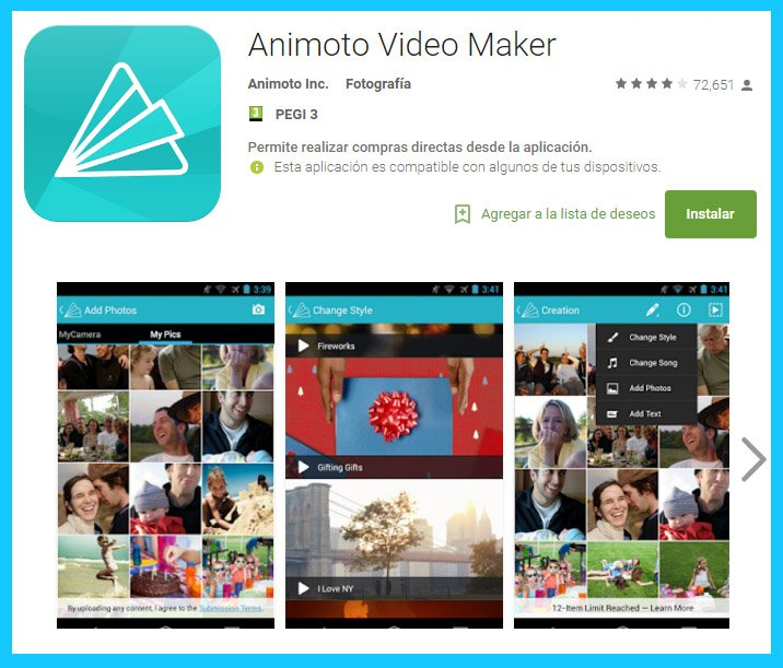 edicion online con animoto para smartphones